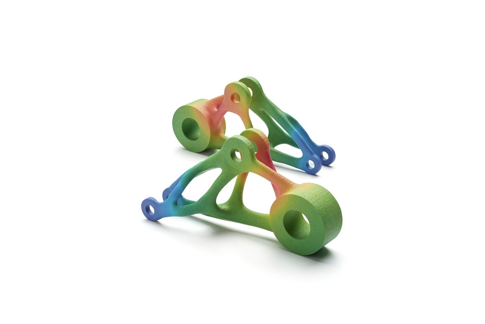 Mit HP Jet Fusion gedruckete farbige Bauteile