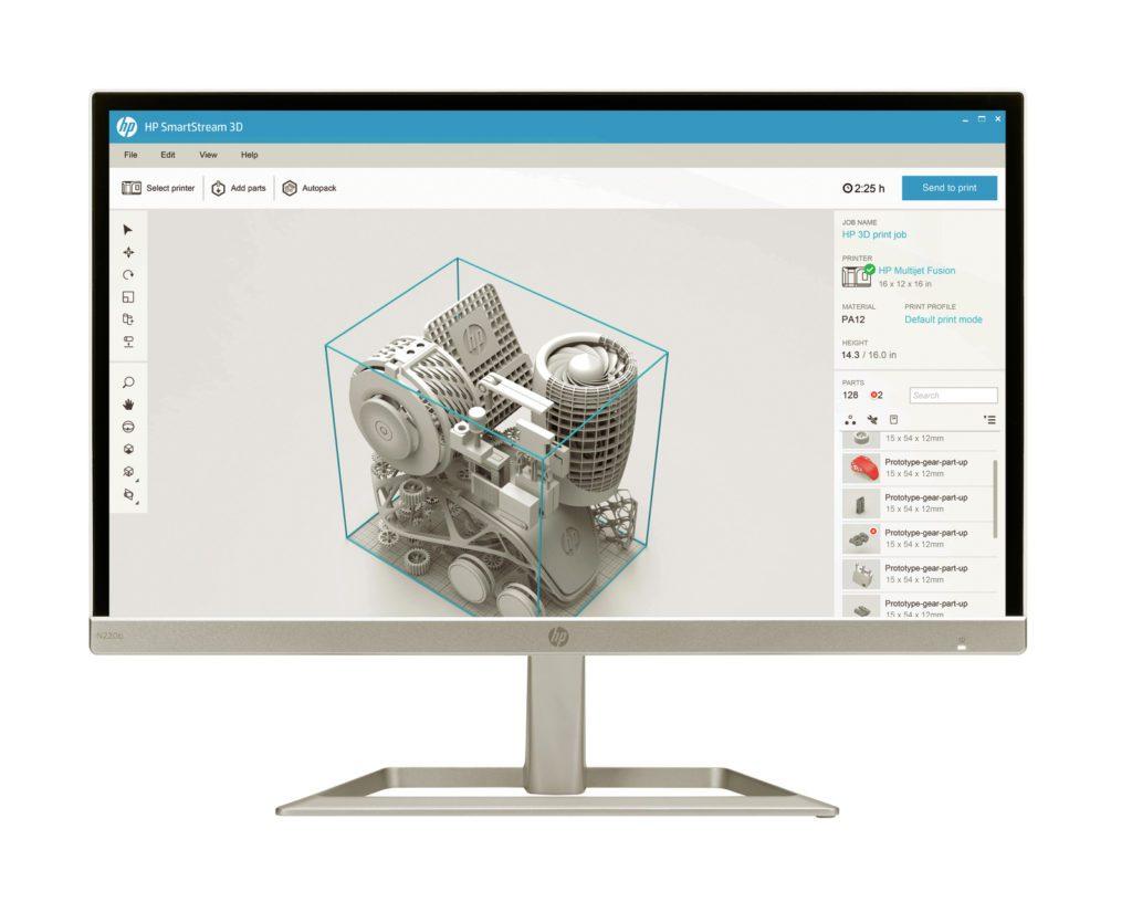 Der intuitive und leistungsstarke HP SmartStream 3D Build Manager hilft Ihnen bei der Erstellung Ihrer Druckjobs.