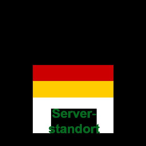 Unsere Serverinfrastruktur wird auf deutschen Servern betrieben