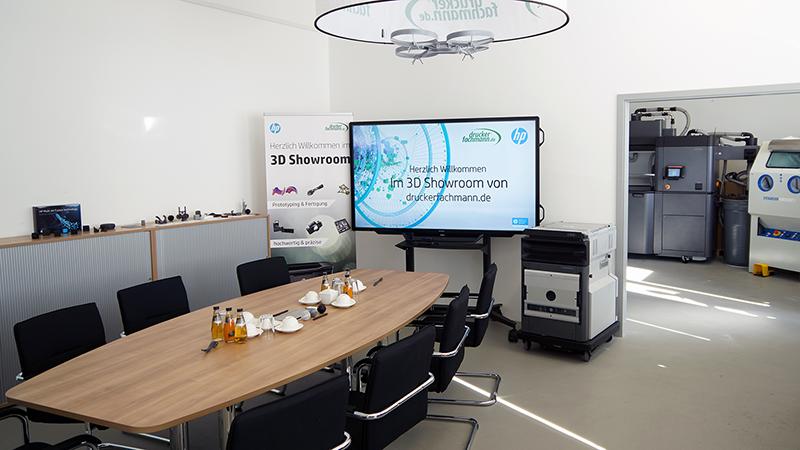 3D Showroom von druckerfachmann.de mit dem HP Jet Fusion 4200 Produktionssystem