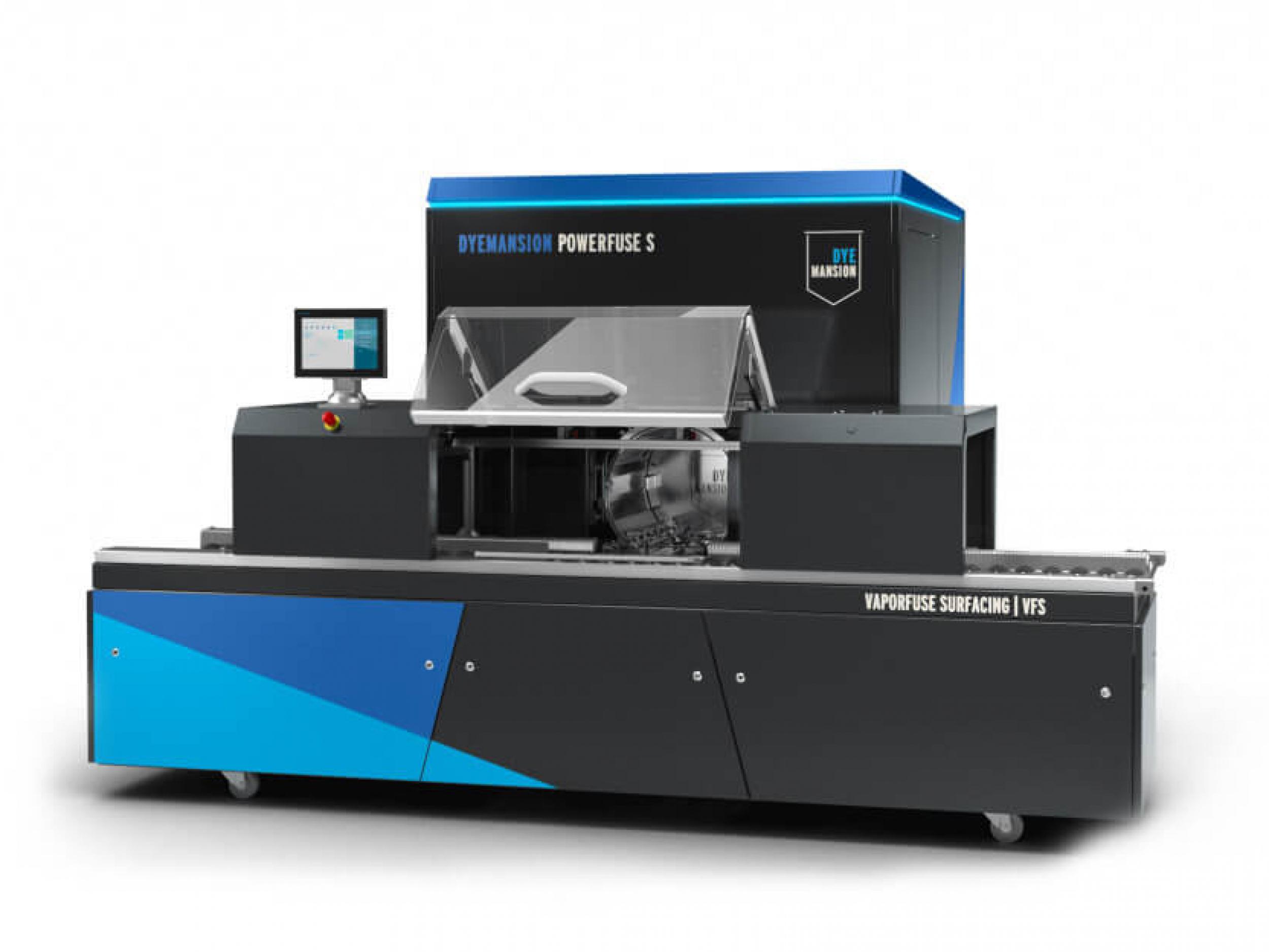 Versiegelte Oberflächen auf Spritzgussniveau Bearbeitung von Kunststoffen mit Lebensmittelkontakt umfangreiche Konnektivität und Batch-Tracking Features DyeMansion Print-to-Product Workflow