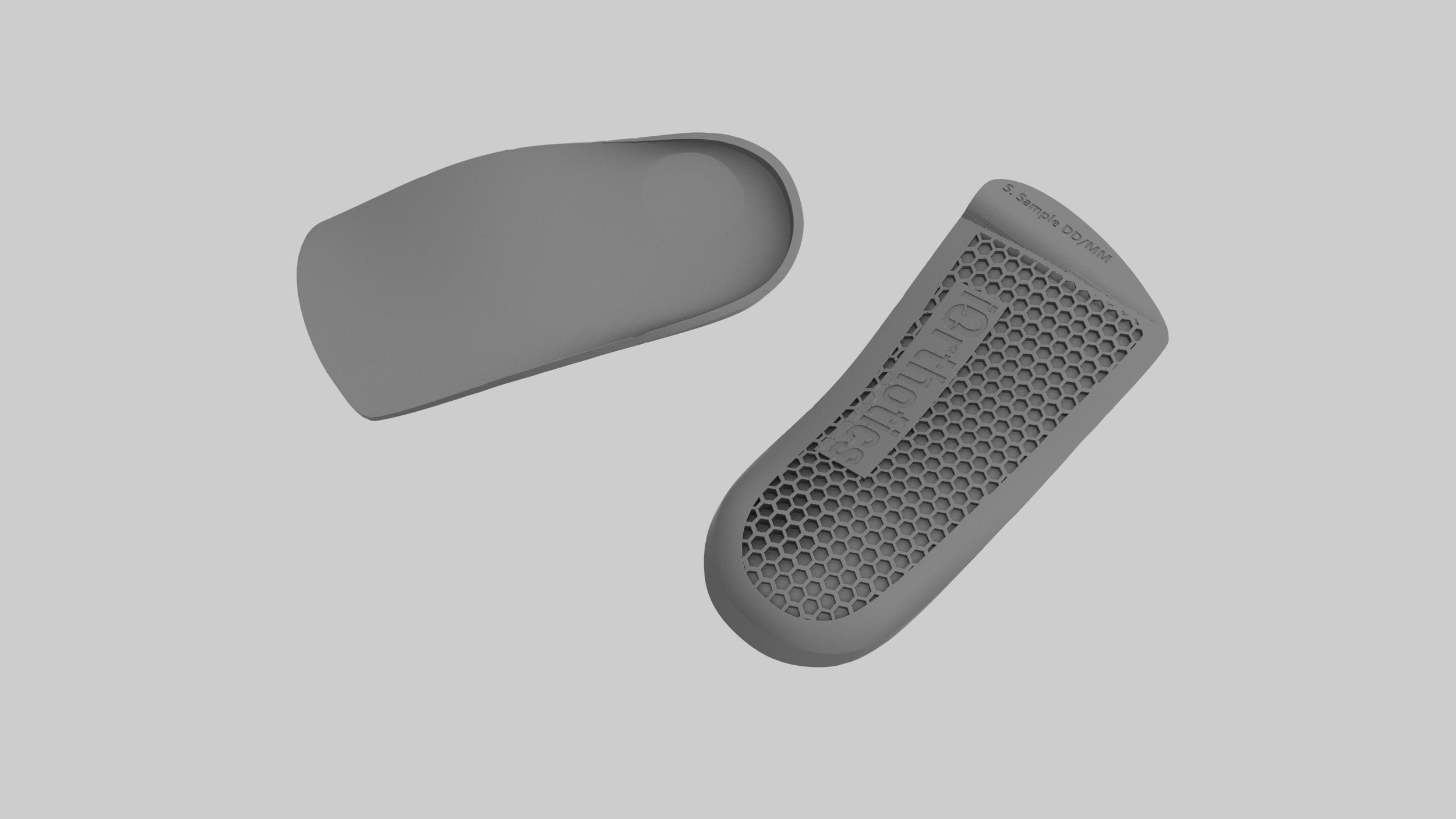 Orthopädische Einlegesohle 3D gedruckt