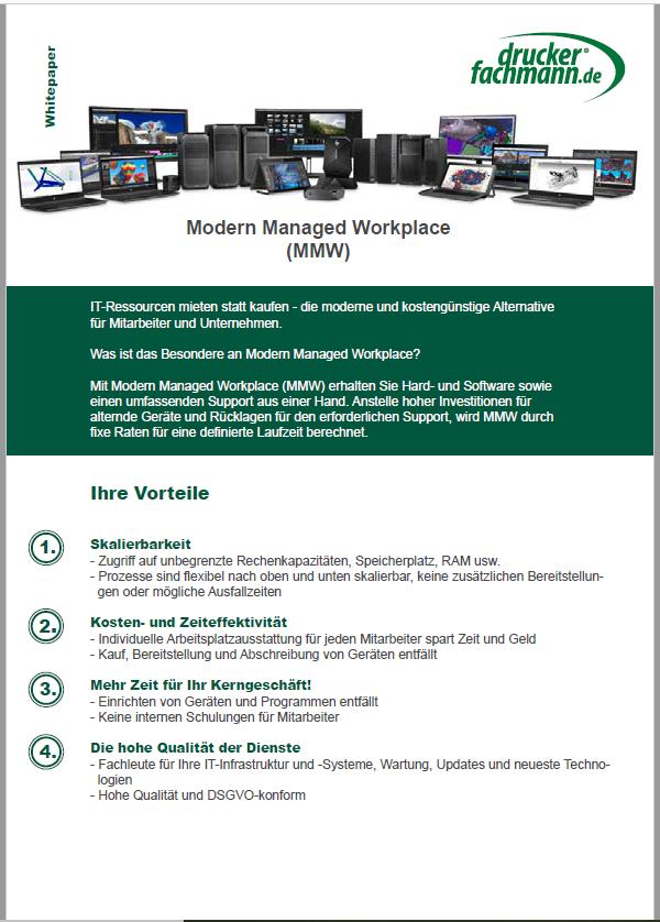 Informationsblatt zu Modern Managed Workplace